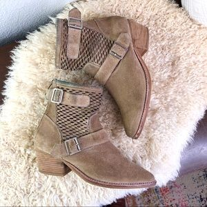 Jeffrey Campbell lasercut bucklewestern ankle boot